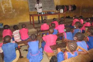 The Water Project: Masoila Roman Catholic Primary School -  Handwashing Demonstration