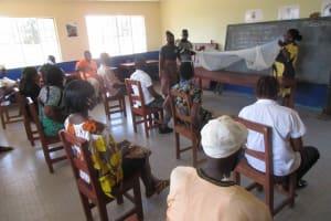 The Water Project: Masoila Roman Catholic Primary School -  Mosquito Net