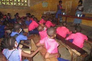 The Water Project: Masoila Roman Catholic Primary School -  Student Handwashing