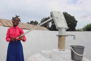 The Water Project: Masoila Roman Catholic Primary School -  Fatmata K At Well