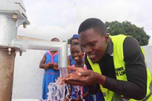 The Water Project: Masoila Roman Catholic Primary School -  Osman Fofanah With Students
