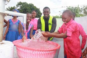 The Water Project: Masoila Roman Catholic Primary School -  Osman With Students