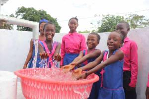 The Water Project: Masoila Roman Catholic Primary School -  Splashing At Well
