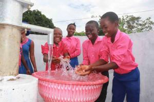 The Water Project: Masoila Roman Catholic Primary School -  Splashing