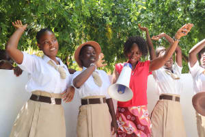 The Water Project: St. Joseph Senior Secondary School -  Principal With Students