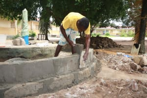 The Water Project: St. Joseph Senior Secondary School -  Pad Construction