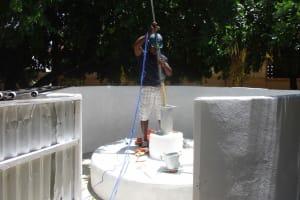 The Water Project: St. Joseph Senior Secondary School -  Pump Installation Begins
