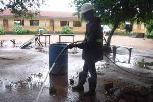 The Water Project: St. Joseph Senior Secondary School -  Yield Test