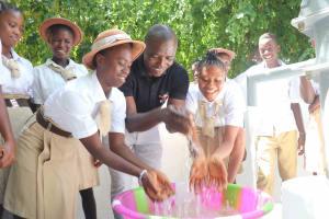 The Water Project: St. Joseph Senior Secondary School -  Abubakar Bangura With Students