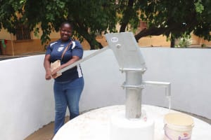 The Water Project: St. Joseph Senior Secondary School -  Community Member At Well