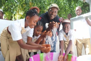 The Water Project: St. Joseph Senior Secondary School -  Councilor Philip Sankoh With Students