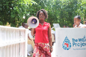 The Water Project: St. Joseph Senior Secondary School -  Margaret Kargbo Making Statement