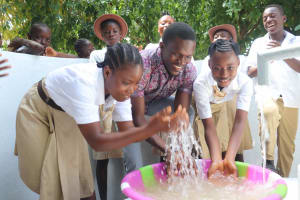 The Water Project: St. Joseph Senior Secondary School -  Osman Fofanah With Students