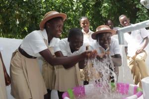 The Water Project: St. Joseph Senior Secondary School -  Splashing