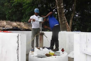 The Water Project: Lungi, Targrin, #11 King Street -  Pump Installation