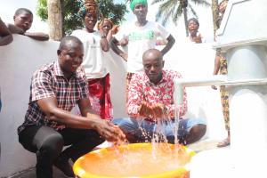 The Water Project: Lokomasama, Kalangba Junction, Next to Alimamy Musa Kamara's House -  Celebrating Safe Clean Water