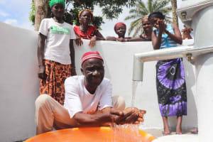 The Water Project: Lokomasama, Kalangba Junction, Next to Alimamy Musa Kamara's House -  Village Headman Celebrating