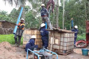 The Water Project: Lokomasama, Kalangba Junction, Next to Alimamy Musa Kamara's House -  Drilling