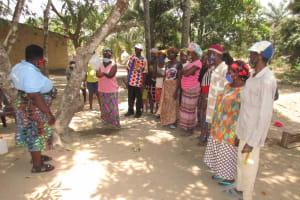 The Water Project: Lokomasama, Kalangba Junction, Next to Alimamy Musa Kamara's House -  Demonstrating Hand Washing