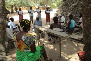 The Water Project: Lokomasama, Kalangba Junction, Next to Alimamy Musa Kamara's House -  Explaining Disease Transmission