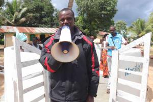 The Water Project: Kamasondo, Robay Village, Next to Mosque -  Councilman Mr Bangura Makes Statement