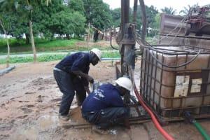 The Water Project: Kamasondo, Robay Village, Next to Mosque -  Drilling