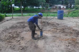 The Water Project: Kamasondo, Robay Village, Next to Mosque -  Preparing For Yield Test