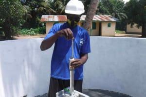 The Water Project: Kamasondo, Robay Village, Next to Mosque -  Pump Installation