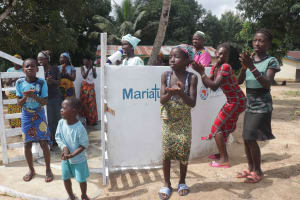 The Water Project: Kamasondo, Robay Village, Next to Mosque -  Community Celebrating And Dancing