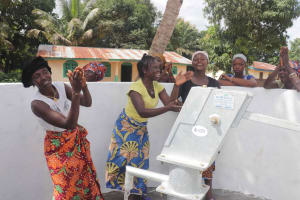 The Water Project: Kamasondo, Robay Village, Next to Mosque -  Happily Celebrating And Dancing