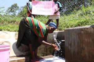 The Water Project: Shamoni Community, Shiundu Spring -  Happy