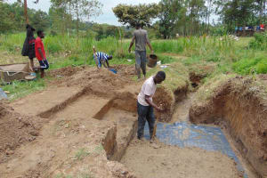 The Water Project: Mukangu Community, Mukasia Spring -  Spring Taking Shape
