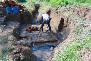 The Water Project: Mukangu Community, Mukasia Spring -  Brick Setting