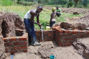 The Water Project: Mukangu Community, Mukasia Spring -  Discharge Pipe
