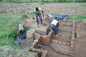 The Water Project: Mukangu Community, Mukasia Spring -  Walls And Stairs