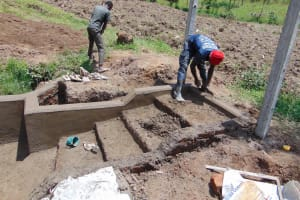 The Water Project: Mukangu Community, Mukasia Spring -  Stair Construction