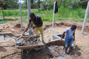 The Water Project: Mukangu Community, Mukasia Spring -  Backfilling Clay
