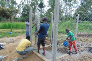 The Water Project: Mukangu Community, Mukasia Spring -  Fencing