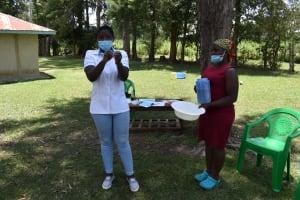 The Water Project: Mukangu Community, Mukasia Spring -  Handwashing Demo