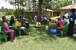 The Water Project: Mukangu Community, Mukasia Spring -  Mixing Soap