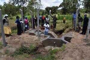 The Water Project: Mukangu Community, Mukasia Spring -  Site Maintenance