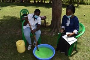 The Water Project: Mukangu Community, Mukasia Spring -  Soapmaking