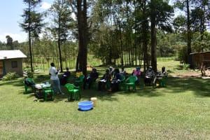 The Water Project: Mukangu Community, Mukasia Spring -  Training Begun