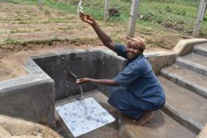 The Water Project: Mukangu Community, Mukasia Spring -  Fresh Water