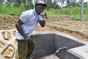 The Water Project: Mukangu Community, Mukasia Spring -  Not Thirsty Anymore