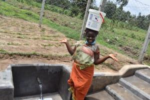 The Water Project: Mukangu Community, Mukasia Spring -  Tah Dah