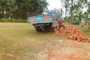 The Water Project: Gimomoi Primary School -  Local Bricks Delivered