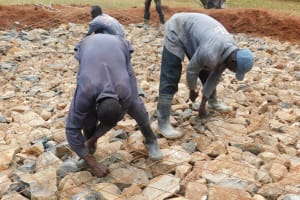 The Water Project: Gimomoi Primary School -  Compacting Foundation
