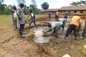 The Water Project: Gimomoi Primary School -  Concrete Placement