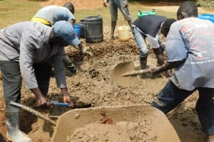 The Water Project: Gimomoi Primary School -  Foundation Concrete